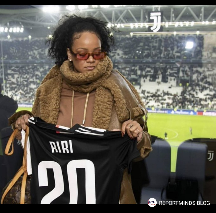 Rihanna Spotted Celebrating Juventus Goal Against Atletico At The Stadium 1