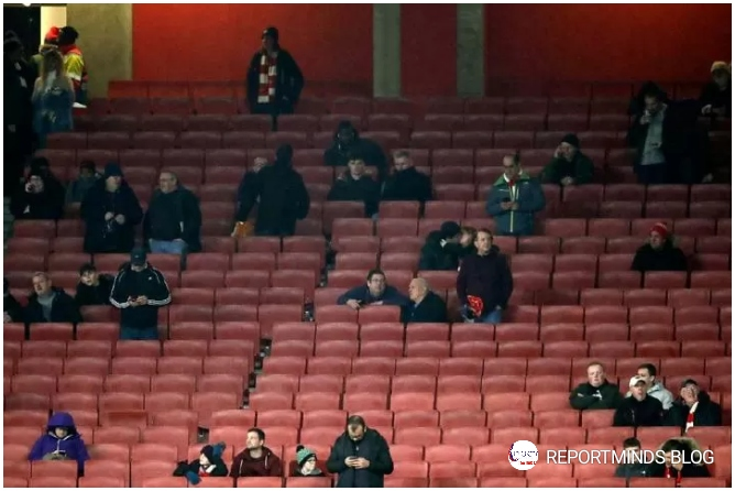 Arsenal Fans Stay At Home As Gunners Faced Frankfurt In Near-Empty Stadium