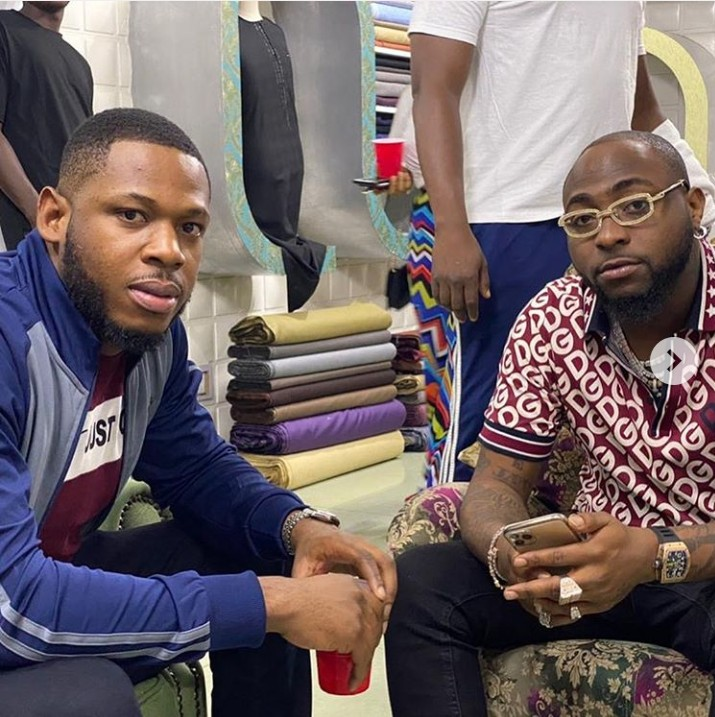 Frodd Hangs Out With Davido
