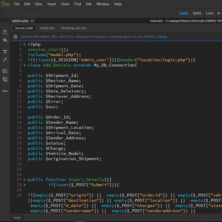 Free PHP And C# Source Code With Documentation