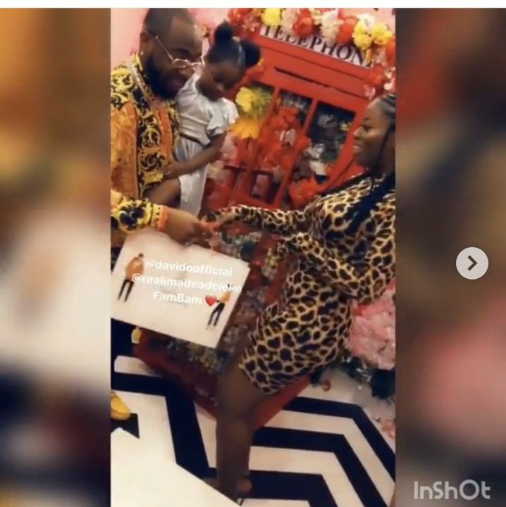 Davido Supports Sophia Momodu At Her Sip And Shop Event