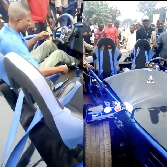 Nigerian Man Builds Sports Car From Scratch In Nnewi