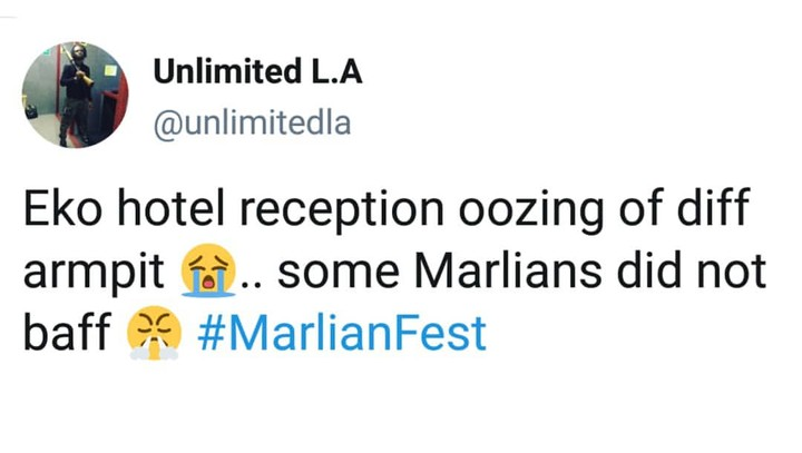 #Marlianfest: Most Marlians did not take their bath before coming - Unlimited LA