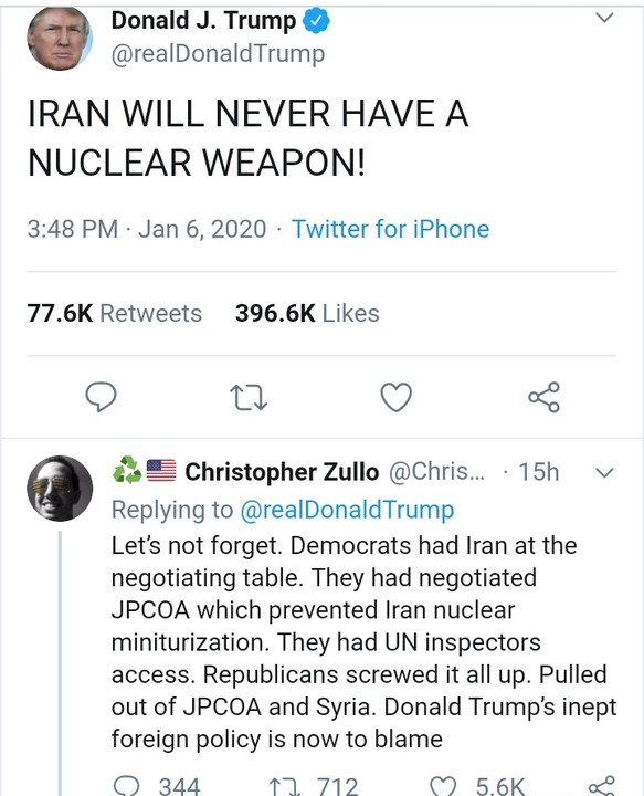 Iran Will Never Have A Nuclear Weapon, Trump Tweets 3