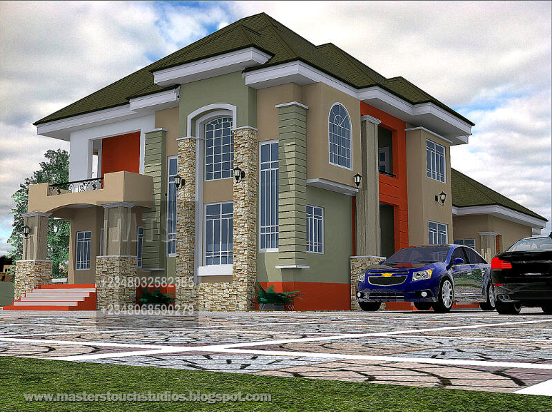 House plans and design architectural designs nigeria for 5 bedroom duplex