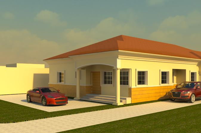 3 Bedroom Bungalow Entrance Porch Living Room Dining Kitchen Store Laundry 2 Standard Rooms Ensuite Master