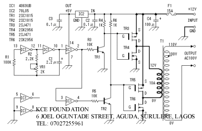 Scematic Machine Inside Circuit Diagram Of A 1500watt Inverter