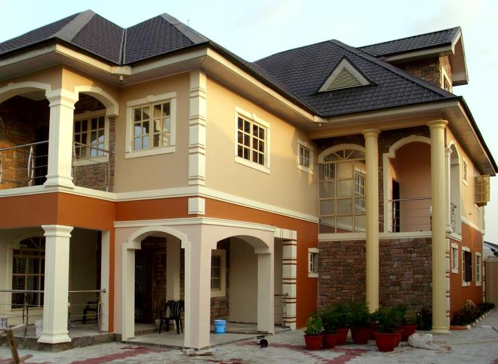 Detail finishing of built home in abuja with pictures for House painting in nigeria