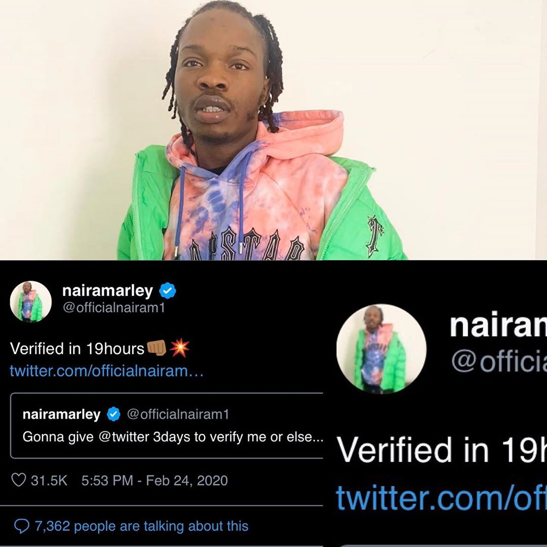 Naira Marley Verified On Twitter 19 Hours After He Threatened To Take Action
