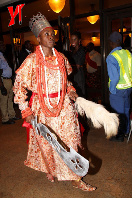 Kate Henshaw In A Niger-Delta Traditional Outfit For Fred Amatau0026#39;s Birthday - Celebrities - Nigeria
