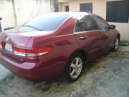 Vehicle (Red Honda Accord