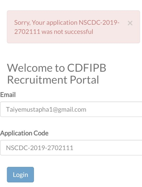 sorry your application was not successful-Cdfipb portal logins 2020/2021 (https://cdfipb.careers/)