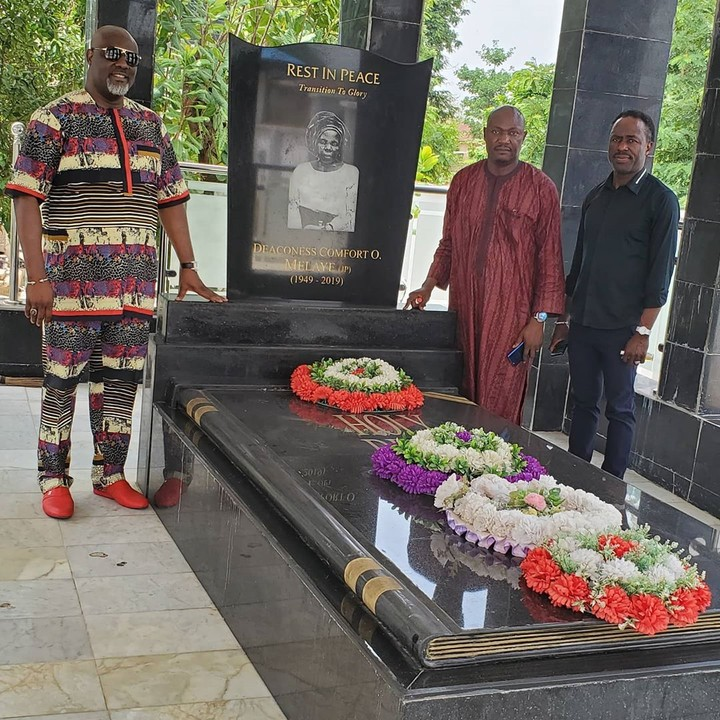 Image result for 45Million Naira Decoration Of Dino Melaye Mother's Grave