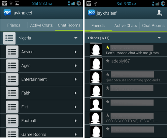 2go messenger for android phone