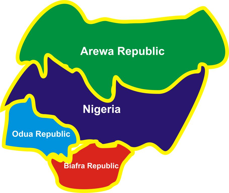Image result for images of Map of divided Nigeria