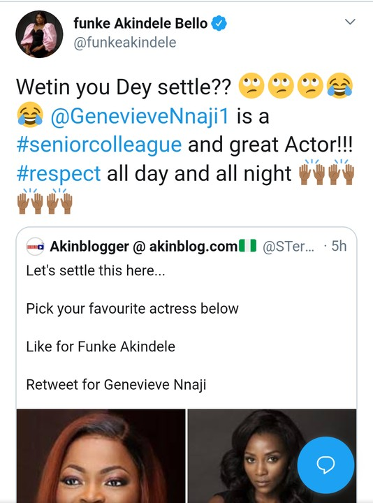 Blogger Compares Funke Akindele With Genevieve Nnaji. Funke Reacts ...