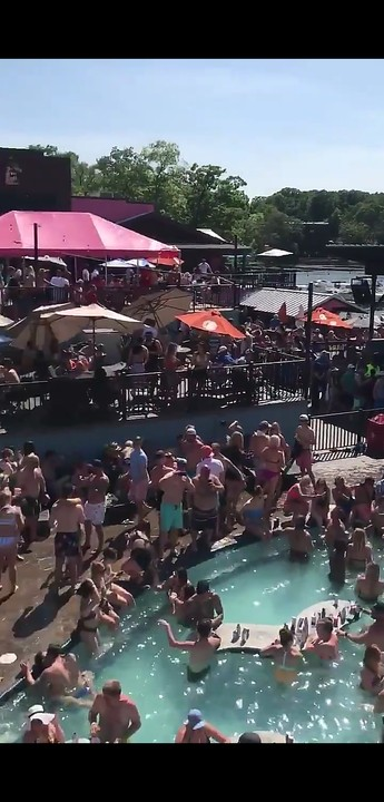Crowd Ignored Social Distancing At A Pool Party