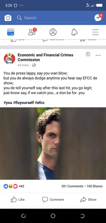 Efcc Official Facebook post that got people laughing