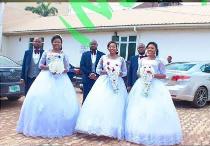 Rare! Two Sets Of Triplets Marry Each Other In Ngwo, Enugu State ...