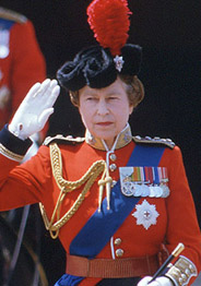 Image result for queen is commander of armed forces