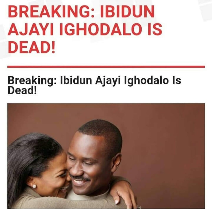 Pastor Ituah Ighodalo's Wife Ibidun Is Dead!