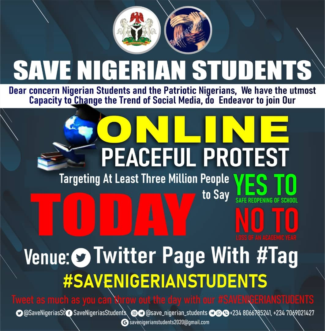 Nigerian Students Stage an Online Protest