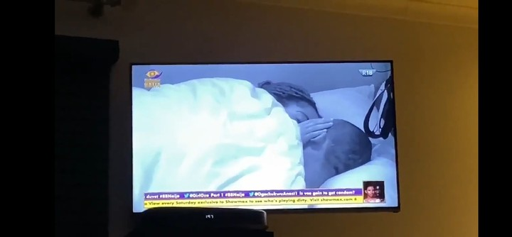 BBNaija: Laycon Interrupts Lilo And Eric As They Kiss In Bed 3