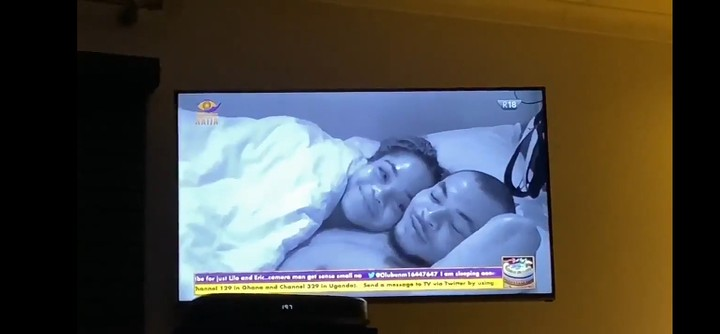 BBNaija: Laycon Interrupts Lilo And Eric As They Kiss In Bed 4