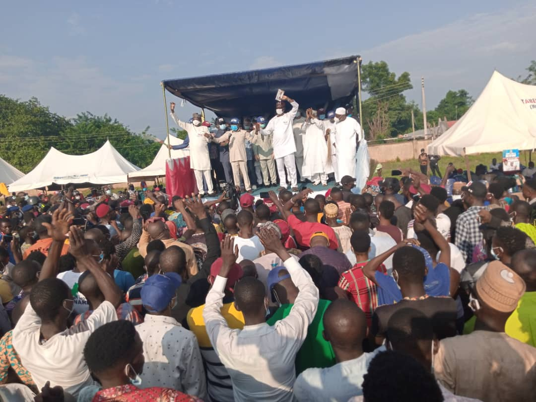 Photos And Video Of Pst Osagie Ize-iyamu's Campaign In Fugar Edo North