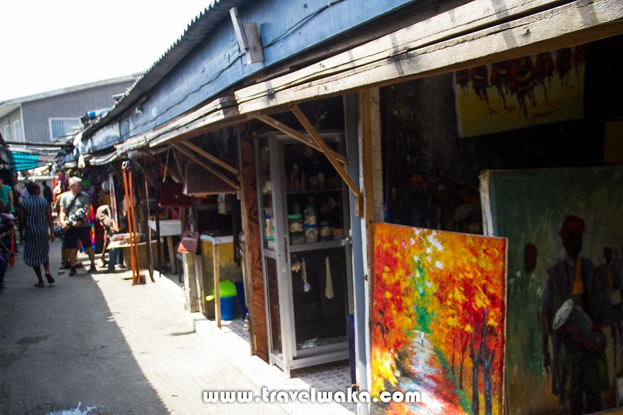 a visit to the beautiful lekki art - one of the biggest art markets in nigeria