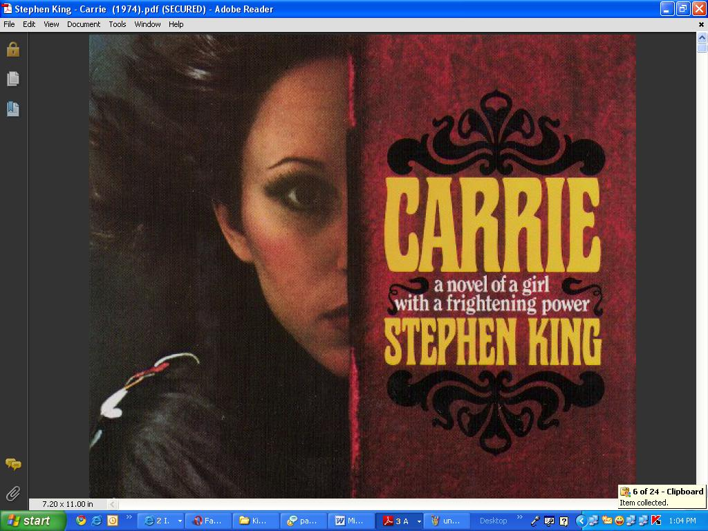 Essays on carrie by stephen king