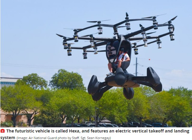 US Air Force Unveils Flying Car That Could Shuttle Troops Across War Zones (Pix) 2