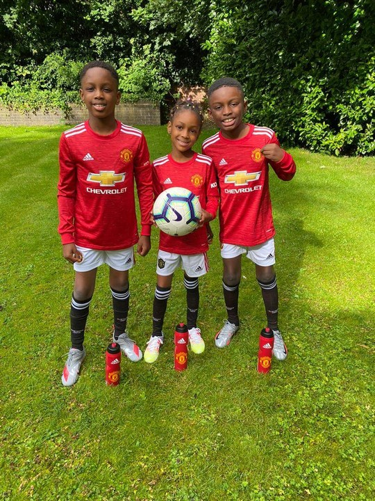 Ighalo Shares Cute Photos Of His Children In New Manchester United Jerseys