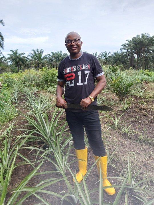 iykbethany in the farm - Agriculture In Nigeria- My Journey So Far