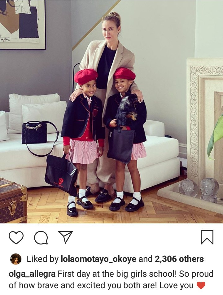 Mikel Obi's Twin Daughters Looking Adorable In A 'Big Girls School' Attire (Photo)