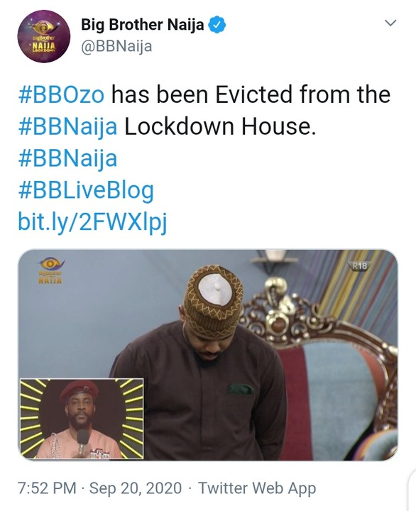 bbnaija - BBNaija: Ozo Evicted From The Big Brother House As Nengi Cries 12371992_cymera20200920195444_jpeg1d97067b27c6e5a7ad815857cc5ee5f2