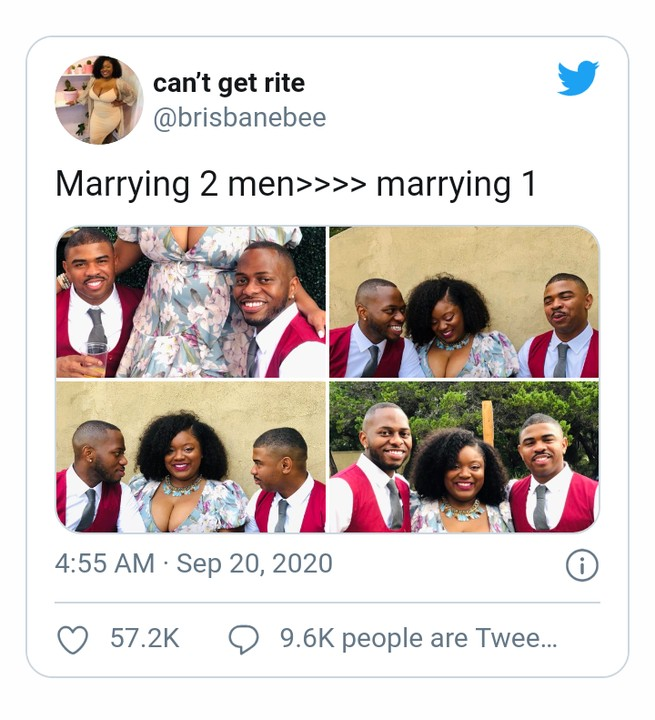Woman Flaunts Her 2 Husbands, Says 'Marrying 2 Men Is Greater Than Marrying One' 1