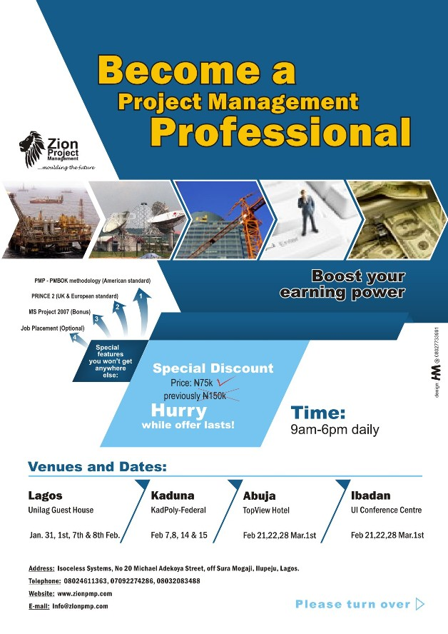 Project Management Course Certification And Training Adverts Nigeria
