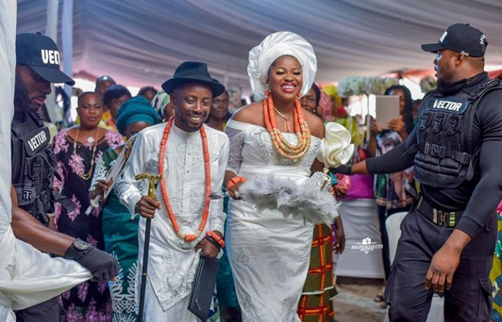 Photos as Erigga Traditionally weds