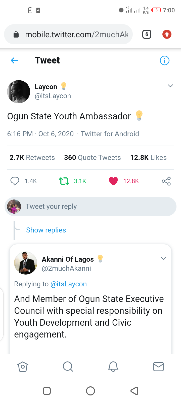 Ogun State Governor Appoints Laycon As Youth Ambassador, Gives Him Bungalow & N5m 2