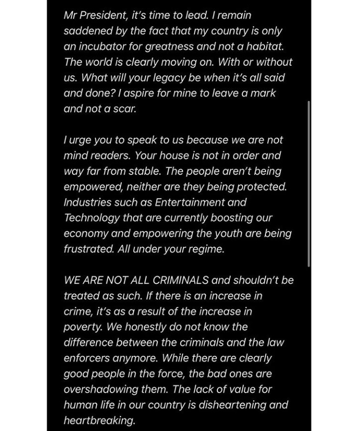 Read Genevieve Nnaji's Open Letter To Buhari, Asking Him To End SARS