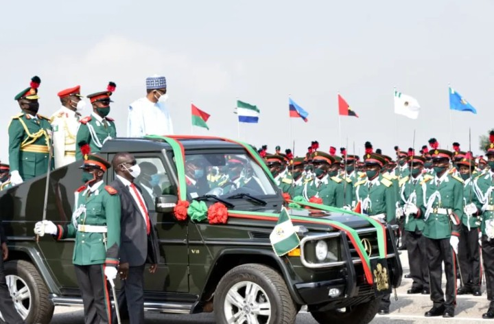 President Buhari Inspected The Passing-out Parade Of The N.D.A