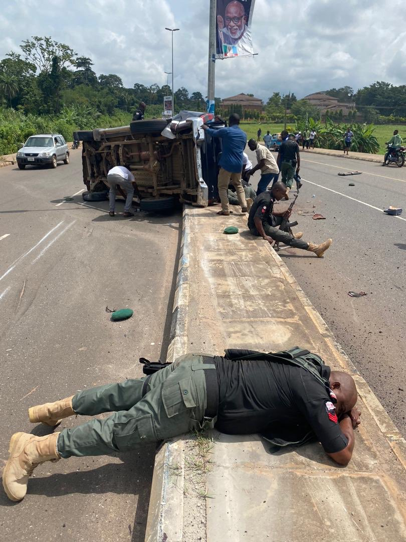 3 Policemen Dead After Fatal Accident in Akure (Photos and Videos) 1