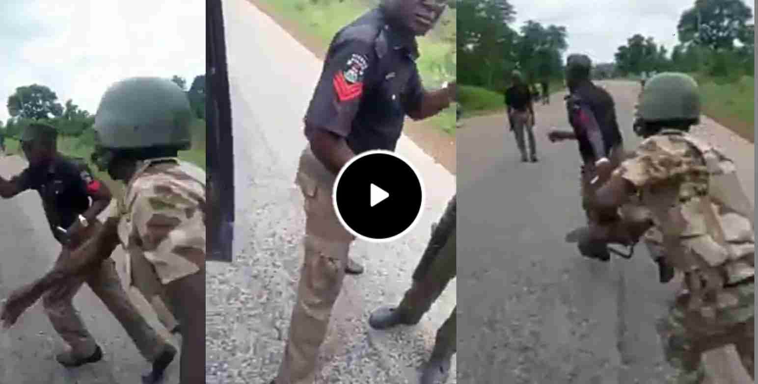 Welcome to Sunny Ehigiator's Blog : Soldiers Beat Policemen Extorting  Motorists, Cyclists On Aba Road (Video)
