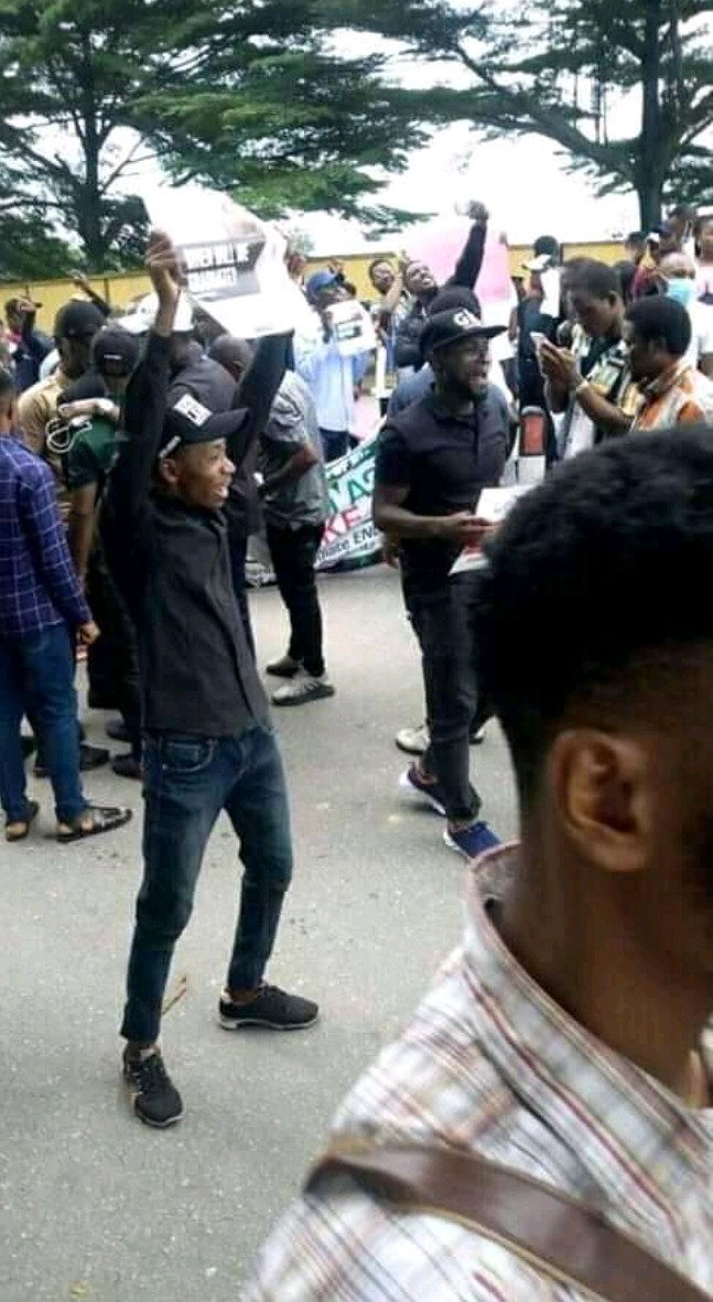 ASUU Strike: 'We've Finished Our Parents' Food' - UNIUYO Students Protest (Pics) 3