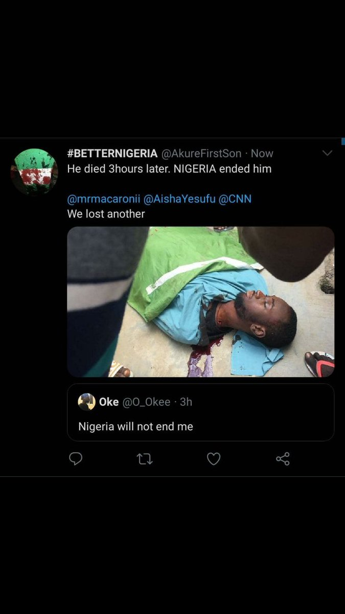 Nigeria Will Not End Me - Man Killed Hours After Tweeting ...