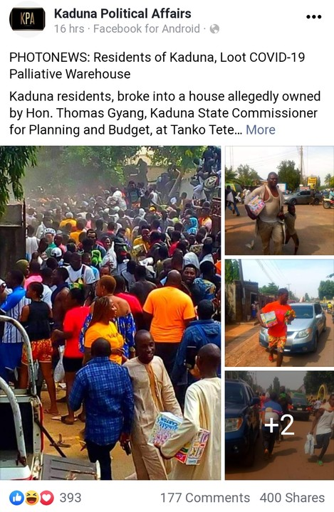 Father Took His Little Son To Loot In Kaduna (Photo) 3