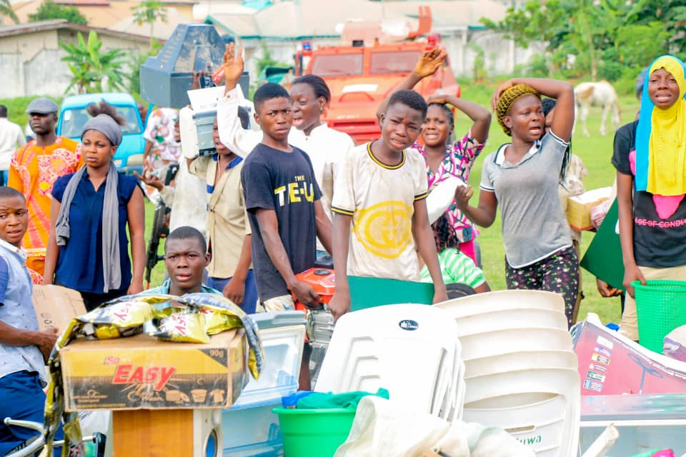 Security Operatives Parade Looters In Osun (Photos) 3