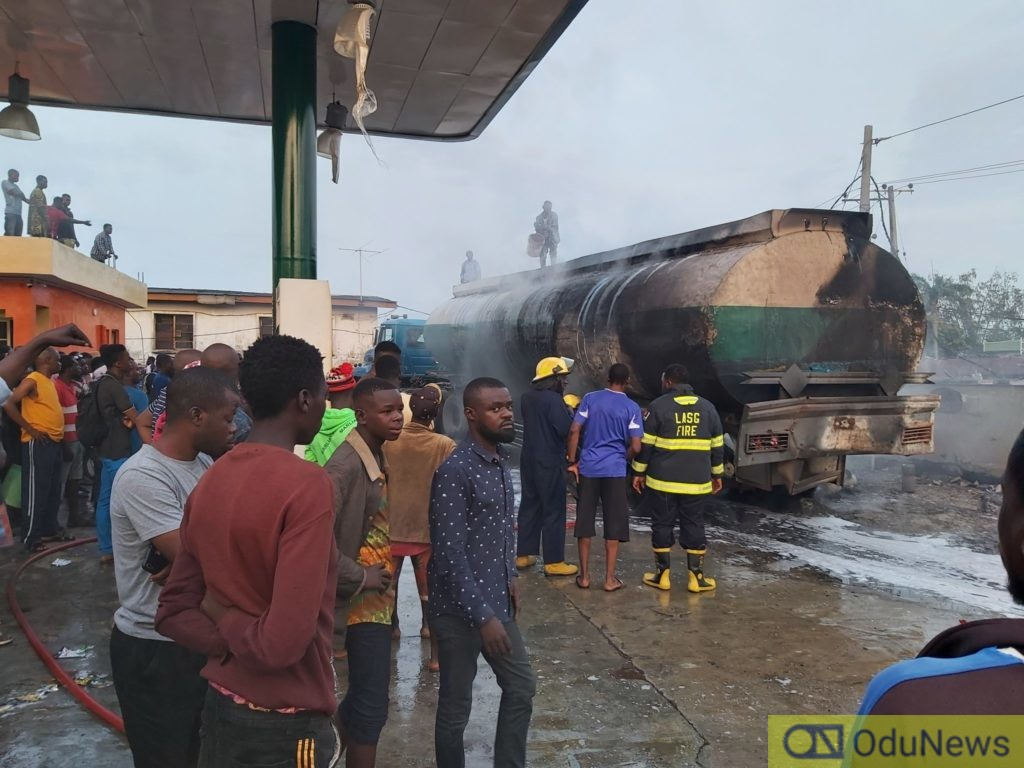 Tanker Explosion At A Filling Station In Ogba (Video) 2