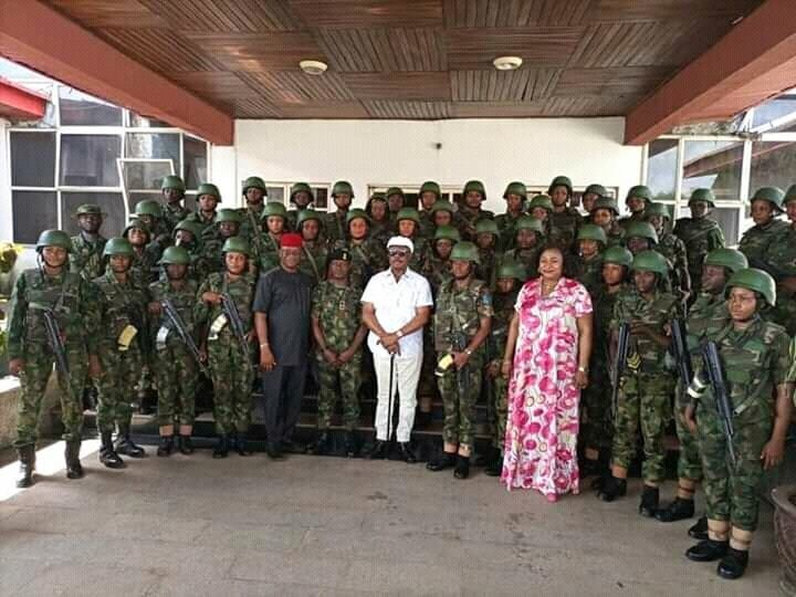 Female Soldiers Deployed To Anambra To Restore Normalcy 1